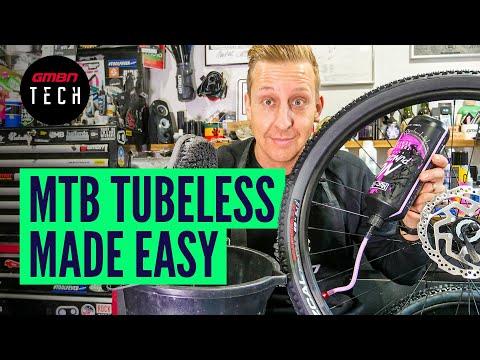 How To Convert Your MTB Wheels To Tubeless   Mountain Bike Tubeless Setup