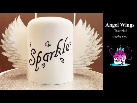 Angel Wings For Cakes Tutorial