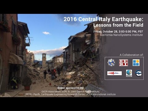 2016 Central Italy Earthquake – Lessons from the Field