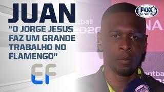 JUAN, ÍDOLO DO FLAMENGO, FALA COM O FOX SPORTS! O ex-zagueiro falou sobre Jorge Jesus e Libertadores