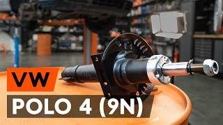 Montering Komplett fjäderben bak VW POLO: videoinstruktioner