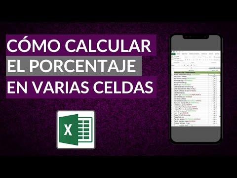 Cómo Sacar o Calcular el Porcentaje en Excel de Varias Celdas o entre Dos Números