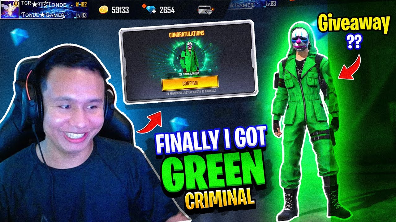 Most Rare ? Green Criminal Bundle is Finally Back in Indian Server - How Much Diamonds ? Needed ??