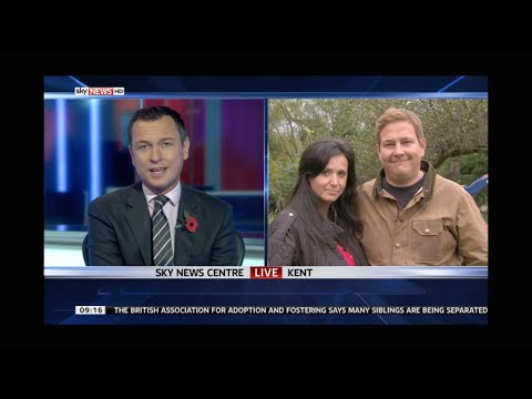 Adopters Amanda and Tarquin about their adoption experience to Sky News