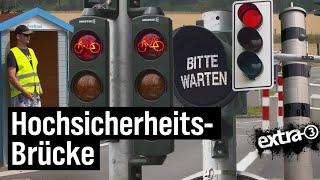 Realer Irrsinn: Hochsicherheits-Pontonbrücke bei Bochum