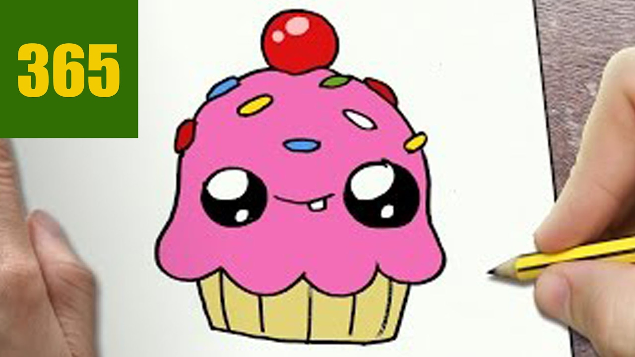 How To Draw A Cupcake Cute Easy Step By Step Drawing