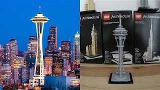 Lego Architecture Seattle Space Needle, cool pictures and ideas of how to build things in lego