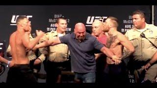Nate Diaz vs. Conor McGregor UFC 202 Main Event Weigh-ins