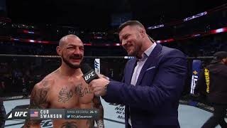 UFC Tampa: Cub Swanson Octagon Interview