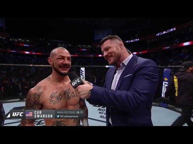 UFC Tampa: Cub Swanson Octagon Interview