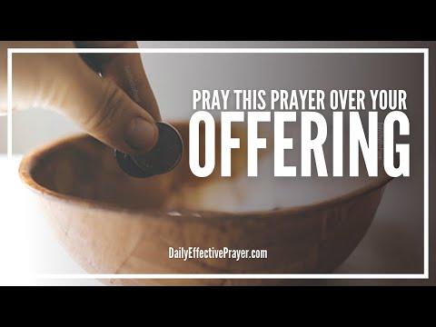 Prayer For Offering At Church - Offering Prayer