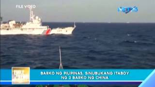Chinese Coast Guard chases Philippine Navy vessels in West Philippine Sea