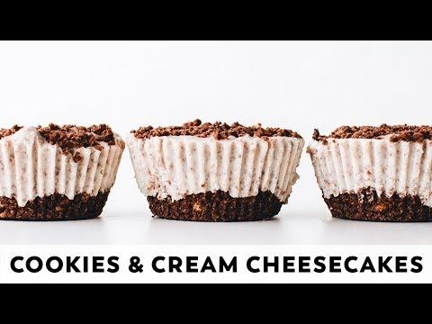 Cookies and Cream Cheesecakes // vegan, gluten-free, no-bake