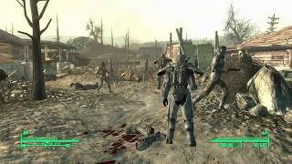 Fallout 3: Big Town BoS Outpost vs Super Mutants [Big Trouble In Big Town]
