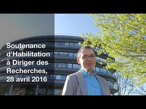 Soutenance d'Habilitation à Diriger des Recherches, Bio-informatique, 28/04/2016, HDR Morgan Magnin