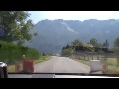 Met auto en caravan langs het meer van Geneve (3 juli 2014)