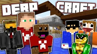 WE'RE FINALLY BUILDING! | DerpCraft 2018 w/ The Derp Crew #3