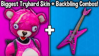 10 TRYHARD SKIN + BACKBLING COMBOS in Fortnite! (tryhard cosmetic combos!)