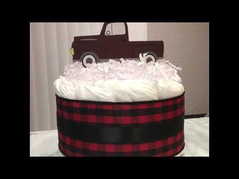 Little Truck Mini Diaper Cake