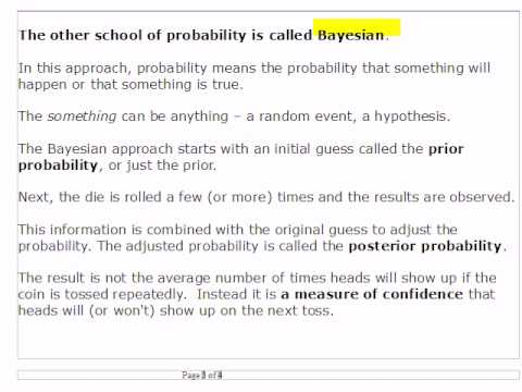 Stat 253 Ch 3 Introduction (Bayes vs Frequentist Approach)