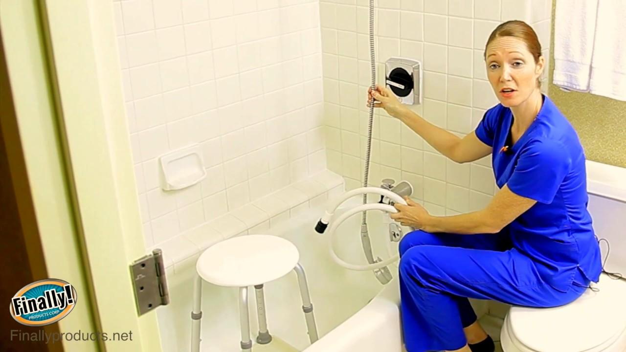 Best Home Care Shower Kit For Elderly & Handicapped - YouTube