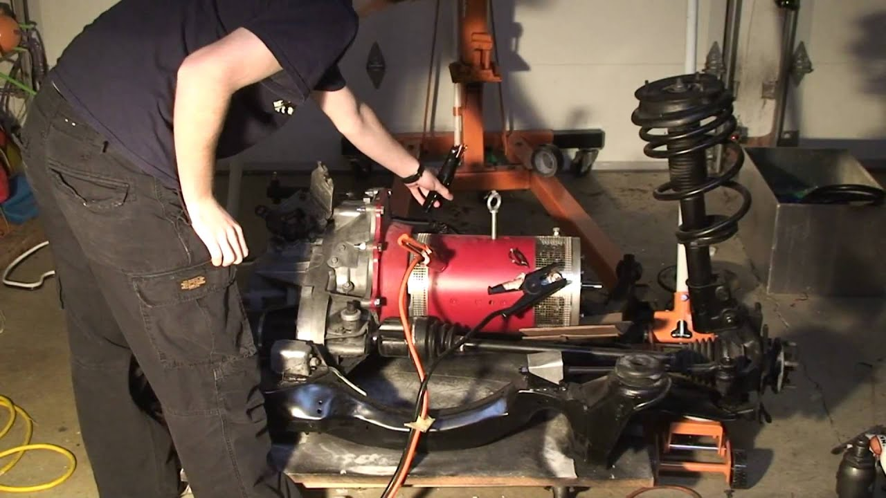 Fiero Electric Motor Transaxle First Test Youtube