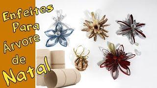5 Ideias de Enfeites de Natal com Rolo de Papel Higiênico