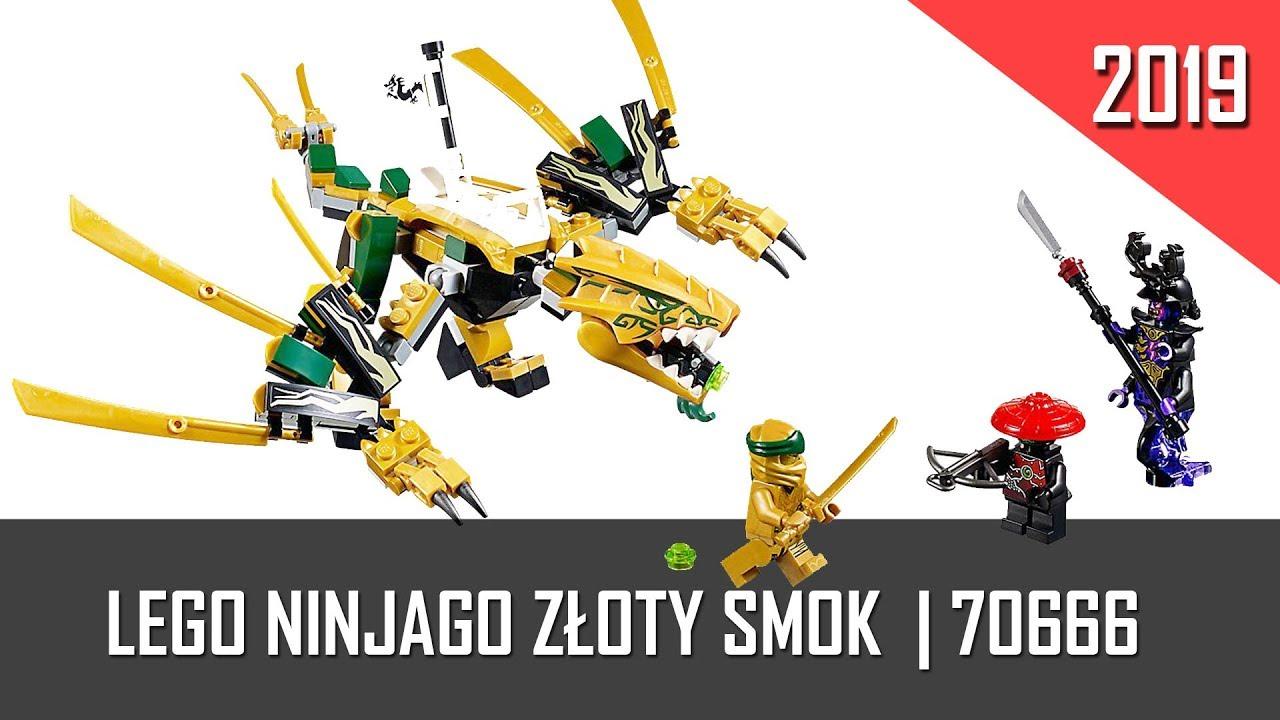 Klocki Lego Ninjago Złoty Smok 70666 2019 Recenzja U Norberta