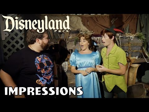 Wendy and Peter Pan's Jaw Dropped - Disneyland Halloween Impressions