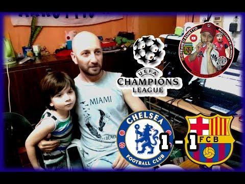 Chelsea FC 1 FC Barcelona 1    Reacciones de un Hincha Argentino   Champions League