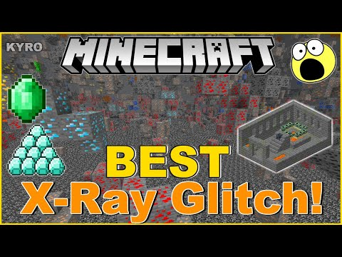 Minecraft|New X-RAY Vision Glitch! 1.14/1.15 |Console Edition|