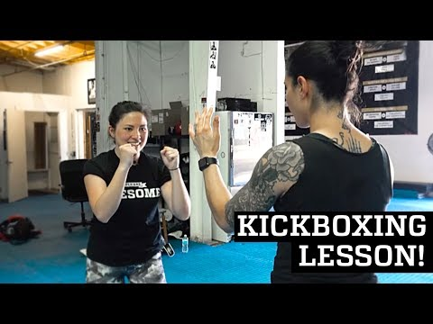 First Muay Thai Kickboxing Lesson! | Awesome Academy
