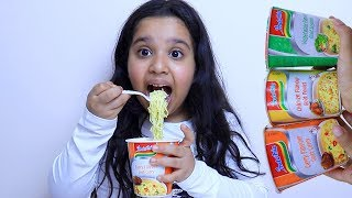 Fingers Family Kid Song Colorful noodles indomie Cute shfa and kid