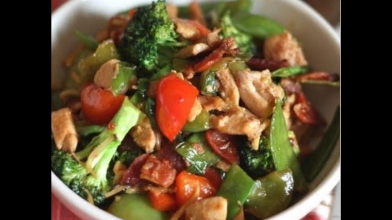 receta dieta pollo con verduras