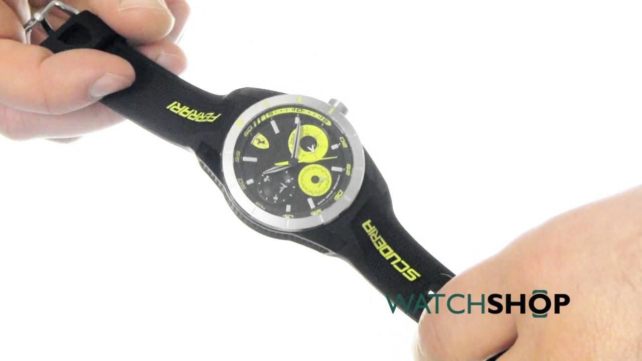 Scuderia Ferrari Men S Redrev T Watch 0830257 Youtube