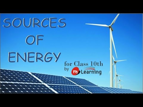 SOURCES OF ENERGY : What is a source of energy? - 01/26