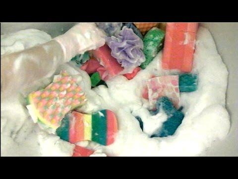 ASMR BATH TIME Soapy Sponges Soap Water Sounds bubble bath Suds Lather Foam Spa Tub