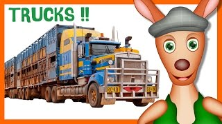 Trucks: Truck Videos For Children. Kid Videos. Preschool & Kindergarten Learning.