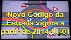 Novo Código da Estrada vigora a partir de 2014-01-01