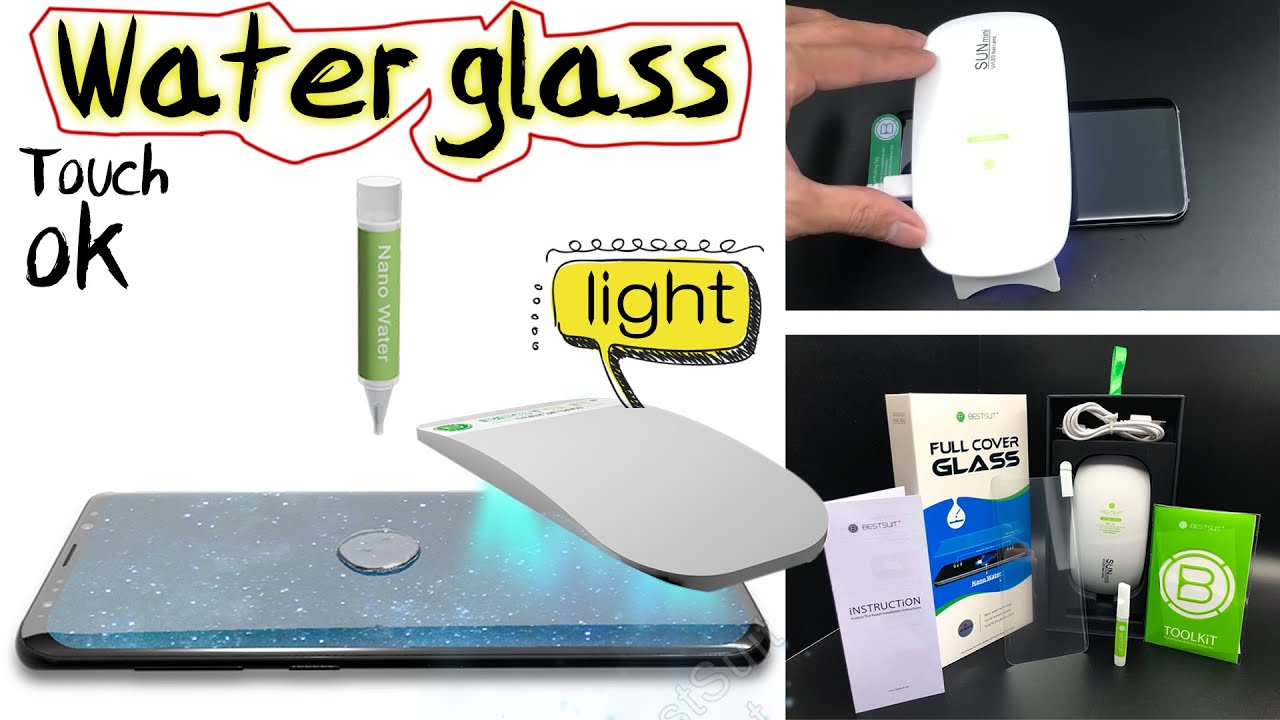 Display Glas Bestsuit Uv Light Full Glue Adhesive Tempered Glass Screen Protector For Samsung Galaxy S8 Or S9