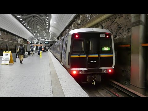 MARTA Transit: FB/Hitachi/Breda CQ310/CQ311/CQ312 Gold Line at Peachtree Center Station