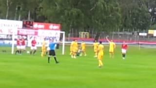 Semming Graff Nygård (17), scorer sitt første landslagsmål for Norge G17