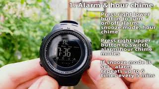 Водоустойчив спортен часовник Skmei 1251