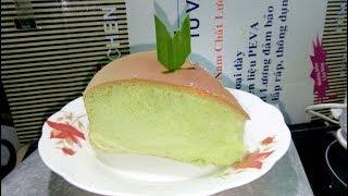 Bánh bông lan lá dứa | Pandan cotton gateur - Cách làm bánh bông lan by Thiên Tân