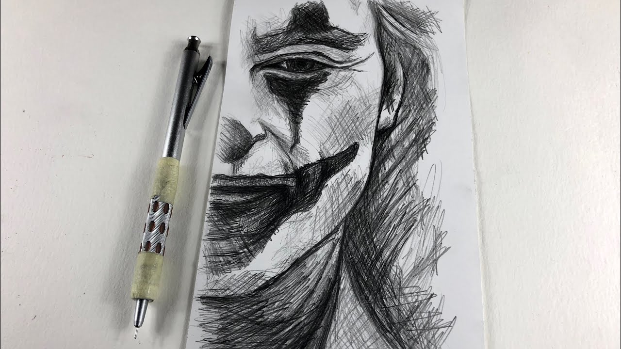 How To Draw Joker Step By Step One Pencil Youtube
