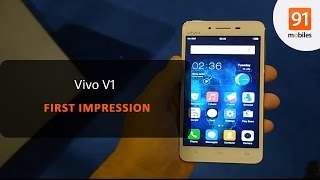 Vivo V1 First Look Hands on Price