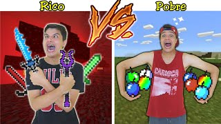 RICO VS POBRE NA ESCOLA #74 -  ESPADA VS MAÇÃ NO MINECRAFT !!