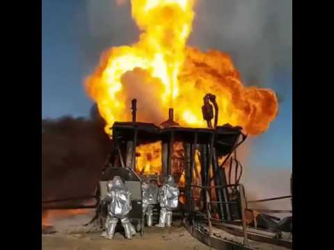 Accident Drilling Rig Oil Well Blowout Youtube