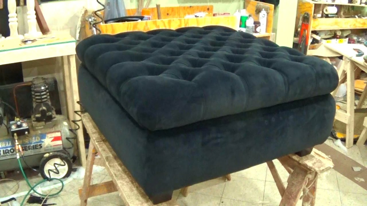Attrayant DIY   HOW TO UPHOLSTER A STORAGE OTTOMAN   ALO Upholstery