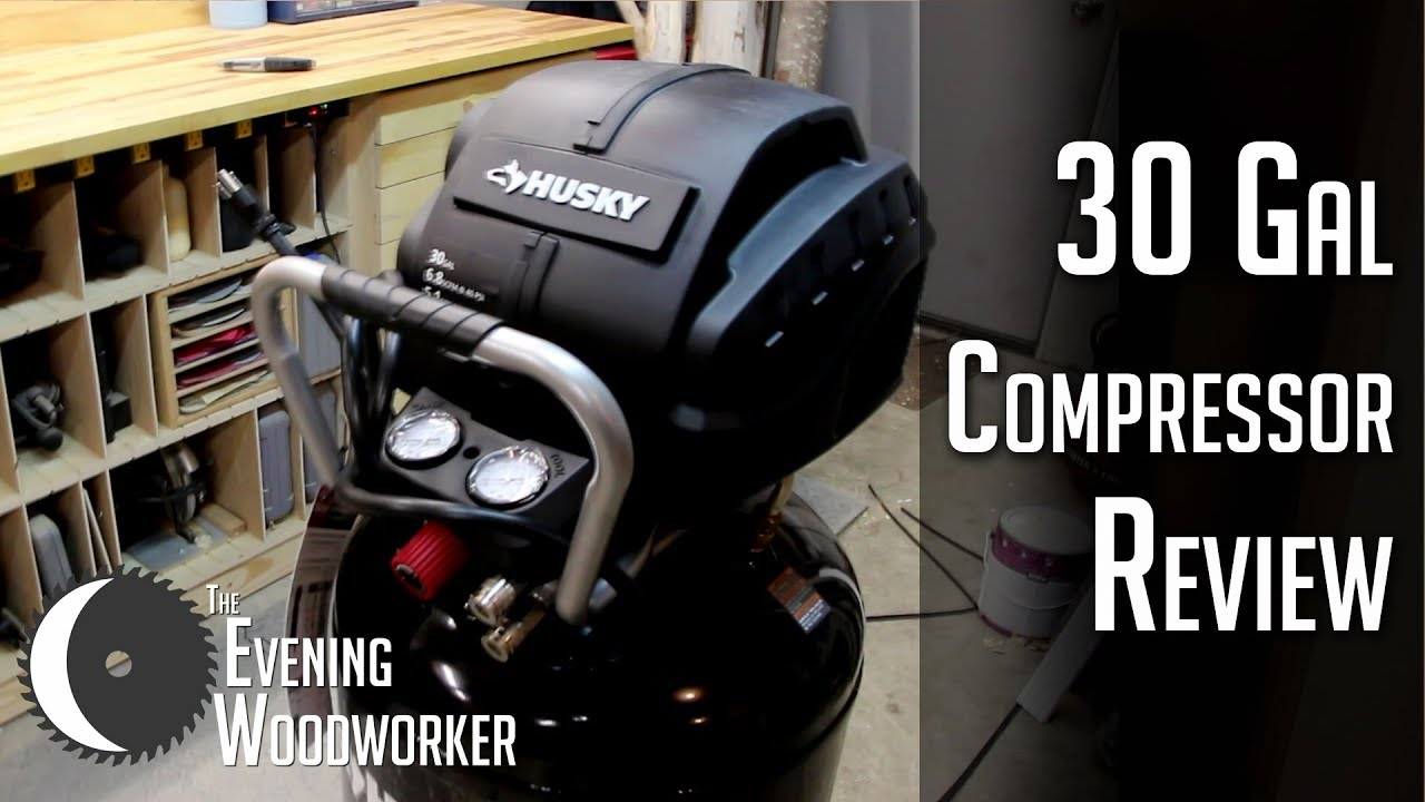 Husky 30 Gallon Air Compressor- Unboxing & Review